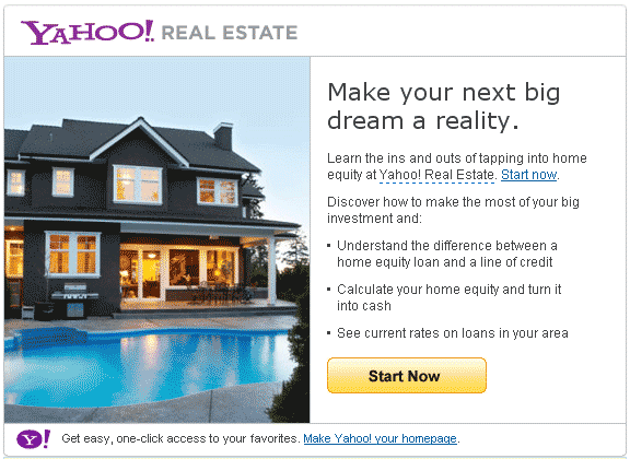 Thank You, Yahoo!, for Perpetuating the Use of Home Equity as Cash