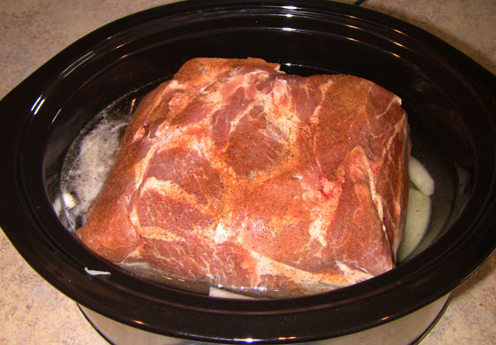 how to cook a pork picnic roast in crock pot