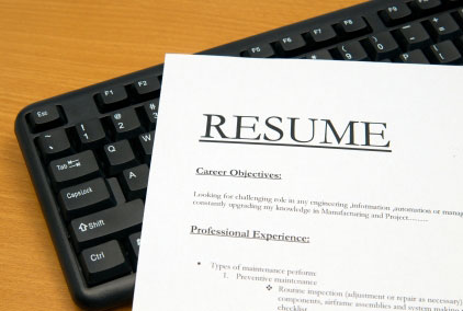 resume on keyboard
