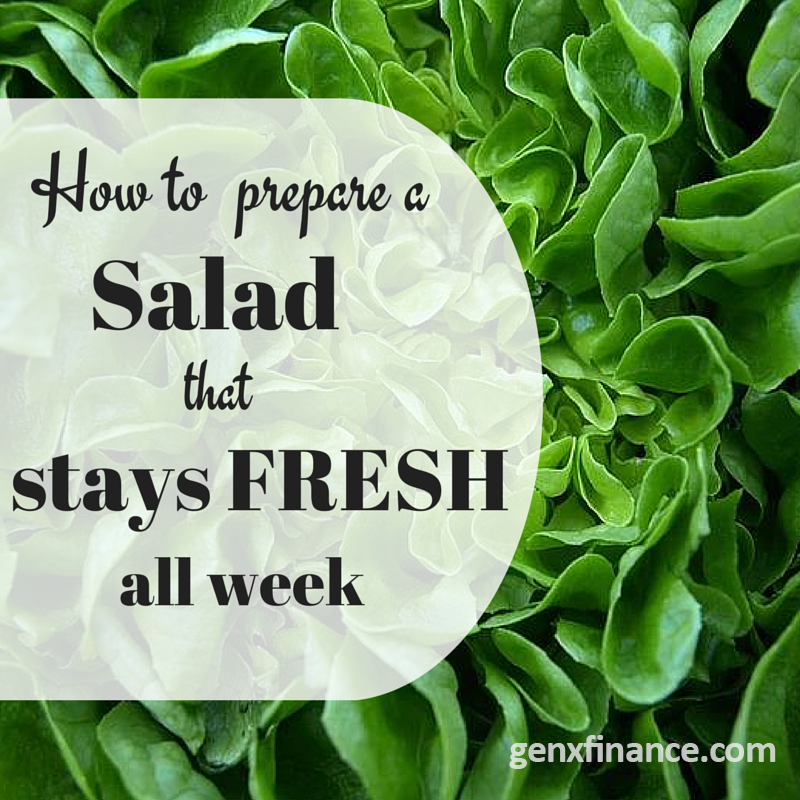 How to keep asalad fresh all week