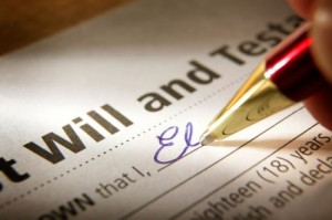 using a will
