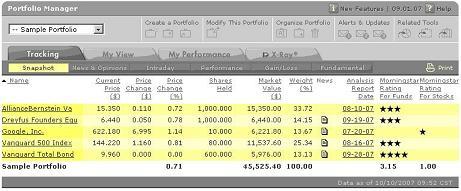 Portfolio Tracking