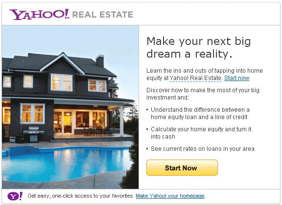Yahoo! Real Estate Ad